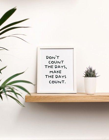 Cadre « Don't count the days » - Maison - Lifestyle