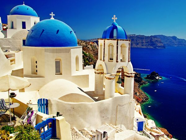 Blue has never looked so good. Santorini, Greece.: Santorini Greece, Buckets Lists, Beautiful Santorini, Favorite Places, Planners Tips, Beautiful Places, Travel, Honeymoons, Greek Islands