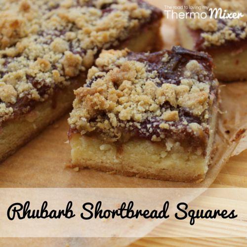 Rhubarb Shortbread Squares