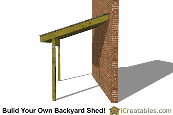 6x12 lean to shed side blueprint and material check list for Lean to house plans