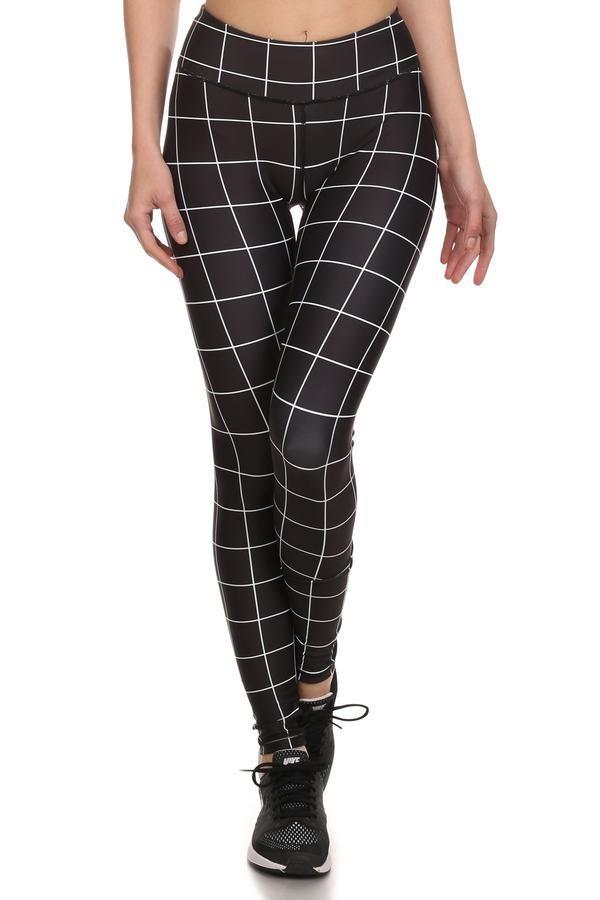 Black Grid Dream Leggings - POPRAGEOUS   - 1