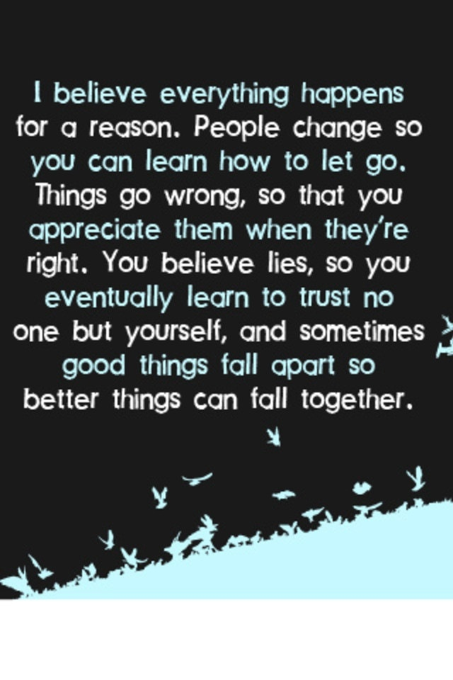 Everything happens for a reason.Thoughts, Remember This, Marilyn Monroe Quotes, Life Lessons, Truths, So True, Favorite Quotes, Reasons, Inspiration Quotes