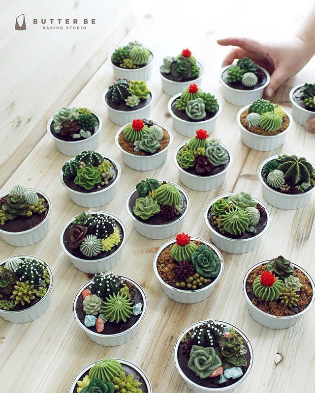 Succulent cactus buttercream