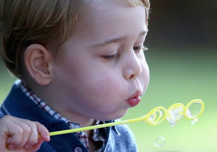 Prince George plays with bubbles at a children's party for Military families in Canada. October 2016 Photo:Chris Jackson/PA Wire  via @AOL_Lifestyle Read more: https://www.aol.com/article/lifestyle/2017/03/25/6-things-to-know-about-prince-georges-new-school/22011438/?a_dgi=aolshare_pinterest#fullscreen