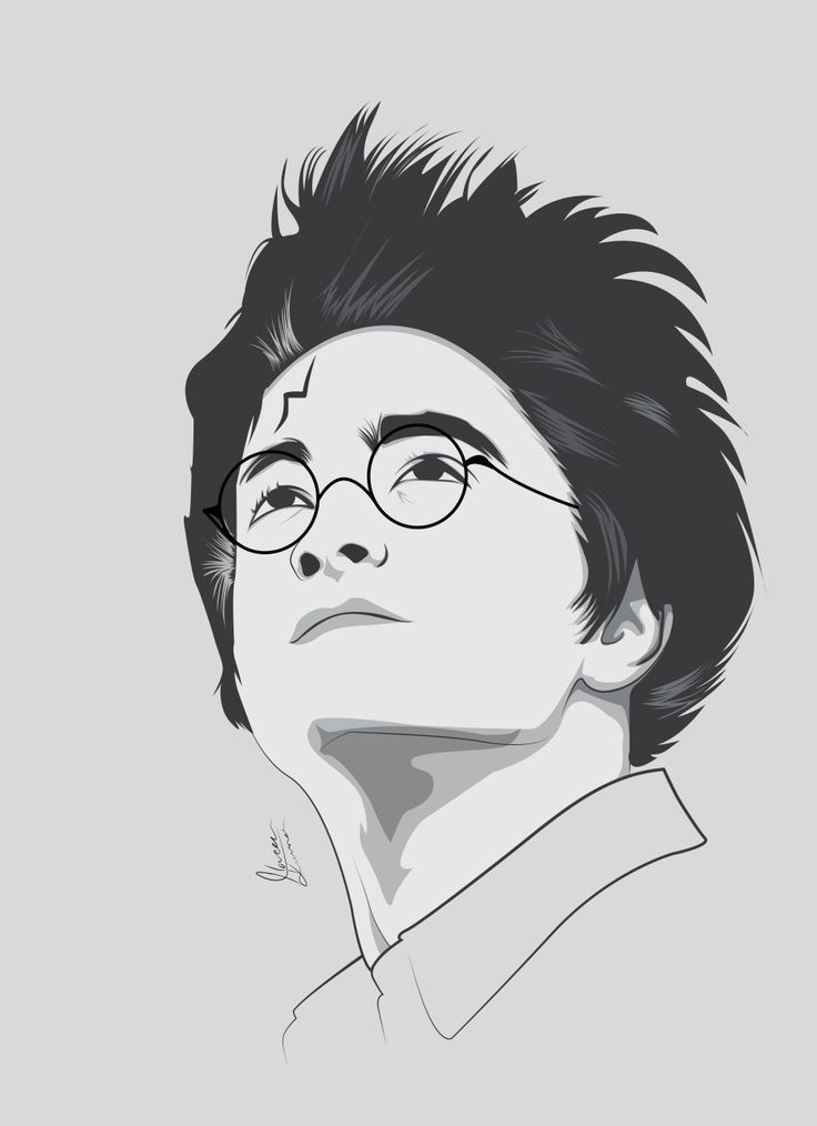 #Harry #Potter #Adobe #illustrator #daniel #redclif