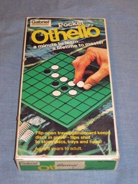 Vintage 1977 Gabriel Pocket Othello Game Never Used