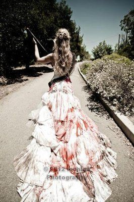 ZOMBIE Trash the Dress Pro Pics are In!! (**TONS OF PICS**) | Weddings, Fun Stuff | Wedding Forums | WeddingWire