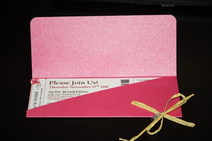 DIY boarding pass invitations