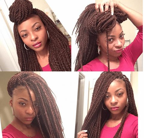How To Style Crochet Box Braids : Beautiful, Senegalese twists and Twists on Pinterest