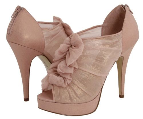 Light pink blush booties from zappos.com