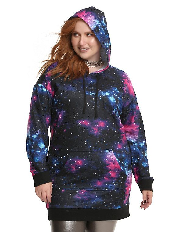 Galaxy Hoodie Dress Plus Size Clothingaccessories Pinterest