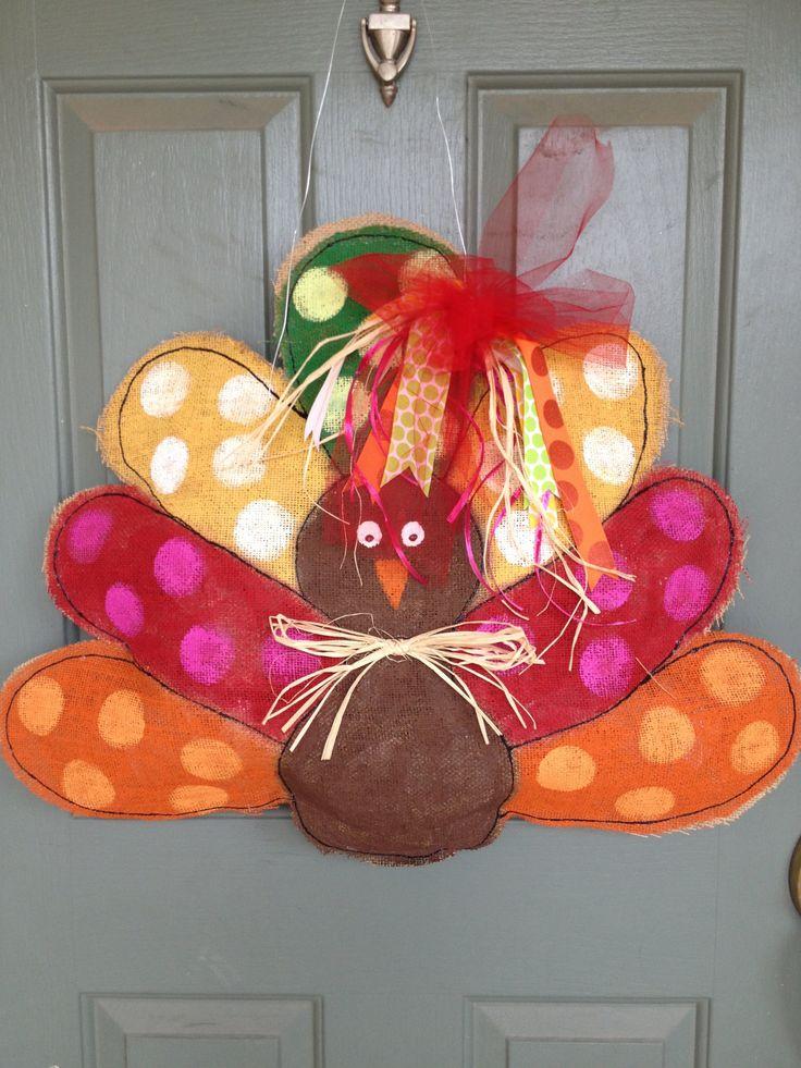 Turkey Burlap Door Hanger. $40.00, Via Etsy.