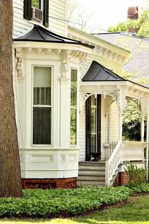 Victorian porch & bay window