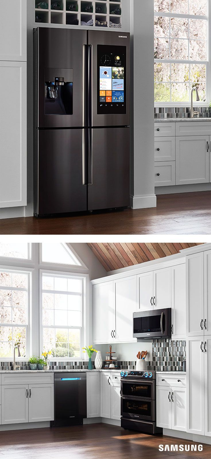 Uncategorized Black Kitchen Cabinets With Stainless Steel Appliances best 25 black stainless steel ideas on pinterest counter depth 4 door refrigerator with family appliancesstainless