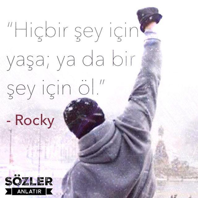 """""""Hiçbir şey için yaşa; ya da bir şey için öl!""""  --Rocky  #filmreplikleri #unutulmazfilmler #özlüsözler #unutulmazsözler #güzelsözler #ilhamverensözler #rocky #fimler"""