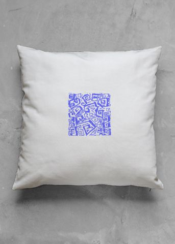 Little ocean - blue - luxury pillow design by Charles Bridge 7x - buy in my VIDA e-shop    #luxurious#pillow#interior#interiordecor#art#artprint#fabricprint#sofa#spring#ocean#oceaninspiration#waves#water#waterart#artist