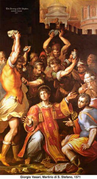 Giorgio Vasari (1511-1574) - Martirio di S. Stefano - 1571 - Pinacoteca, Vaticano