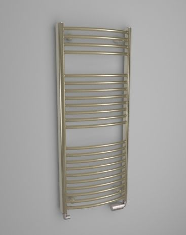 The HOTHOT radiator Satin Massive Round is made of interesting solid side profiles with rounded horizontal smooth tubes. It is one of the most favourite bathroom radiators.