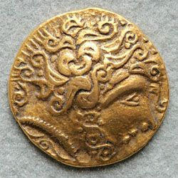 There are two types of Celtic coins – Gaulish or continental and British coins. Both exhibits stunning abstracted images.