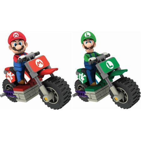 K'nex Mario Kart Wii Bundle: 2 Standard Bike Building Sets - Mario and Luigi, Multicolor