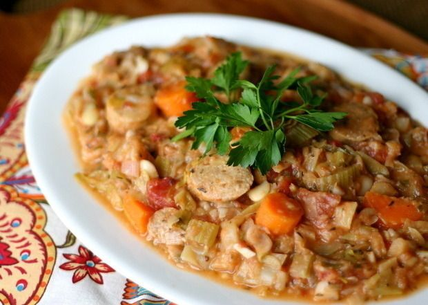 Gojee - Three Bean and Chicken Sausage Cassoulet by Everyday Maven ...