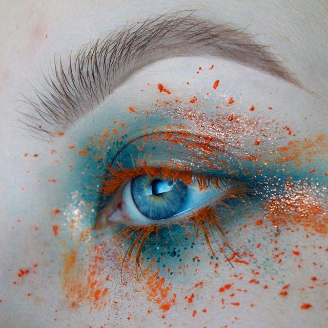 WEBSTA @ makeupbyfayesarah - M A R I G O L D : Eyeshadow @anastasiabeverlyhills Liquid Lipstick in Requiem @kryolanofficial Aqua Colour in Orange : Brows @inglotireland Gel liner 90 :Glitter @inglotireland Burnt orange pigment @jazzy_glitter Waterfall glitter