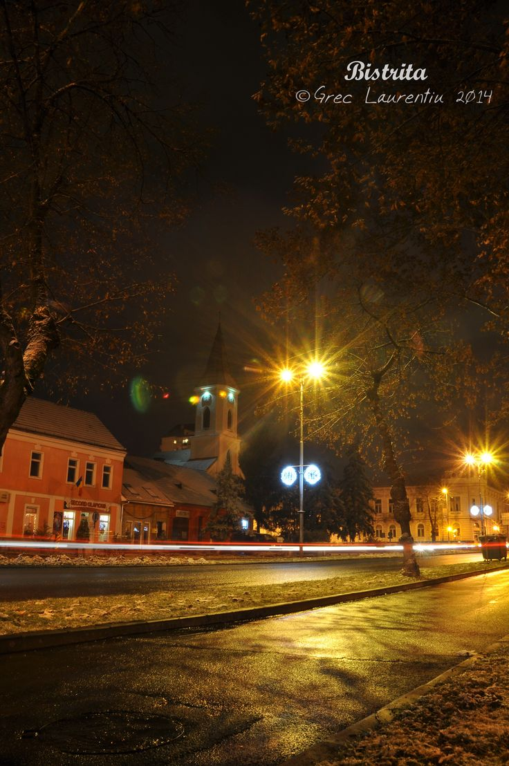 Bistrita  at night ....