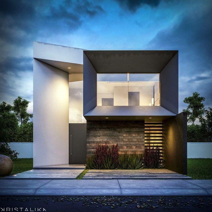 Casasminimalistas fachadas casas 2 pisos pinterest for Casa minimalista pinterest