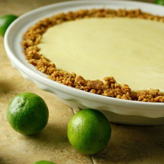 Key Lime Pie on a toasted coconut and graham cracker crust. Kick off ...