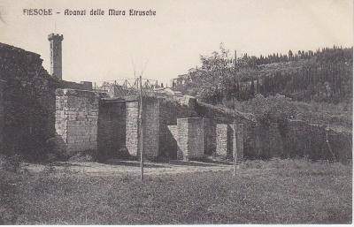 Brunelleschi Postcard - Fiesole - 5225 - Avanzi delle Mura Etrusche c1909