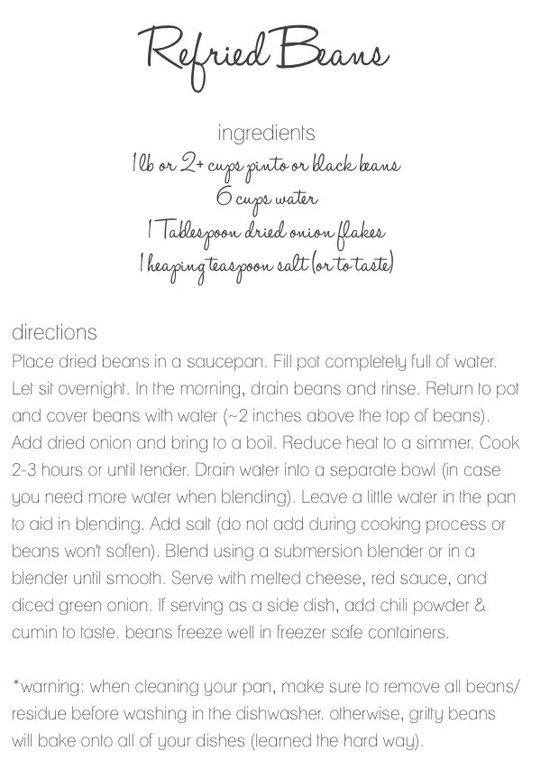 refried bean recipe