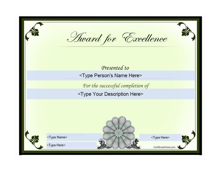 Best 25+ Award templates free ideas on Pinterest Award template - award of excellence certificate template