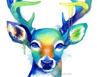 Wahrscheinlich die buntesten Giraffe, die Sie je gesehen haben! Dies ist einer von vielen in meiner Reihe von bunten Tier-Aquarelle. Schauen Sie sich mein Shop um mehr davon zu sehen!  https://www.etsy.com/shop/BumbleBirdStudio  -----------------------------------------------------------------------------------------------  Archivabzüge werden ein Leben lang. Sie werden durch professionelle Druckfarbe gedruckt, die lichtbeständige und wasserdicht ist. Gedruckt auf Schwerge...
