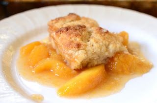 Easiest #GlutenFree Peach Cobbler Recipe Ever!