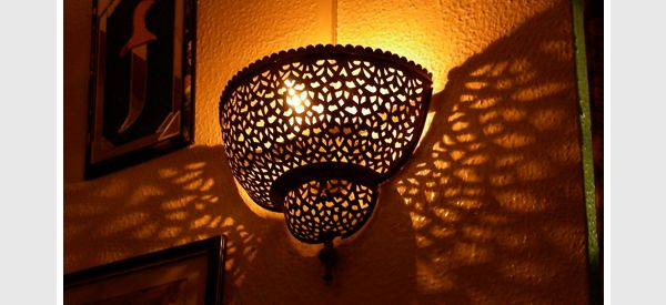 Moroccan wall lamp... WANT for Alfresco area!