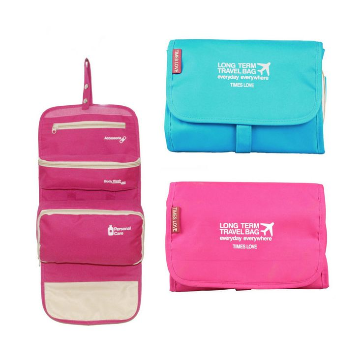 Travel Cosmetic Bag for Toiletries Organizer Necessary Women Cosmetic Bag Men Toiletry Bags Large Makeup Bags Hanging Portable