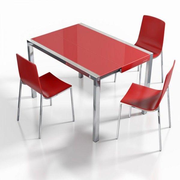 table en verre extensible pour petit espace concept