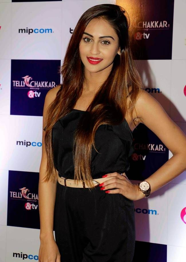 Krystle D'Souza at Tellychakkar's 11th anniversary bash. #Bollywood #Fashion #Style #Beauty #Hot