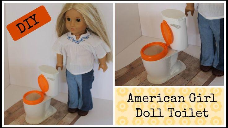 DIY American Girl Doll Toilet - for American Girl Julie's Bathroom