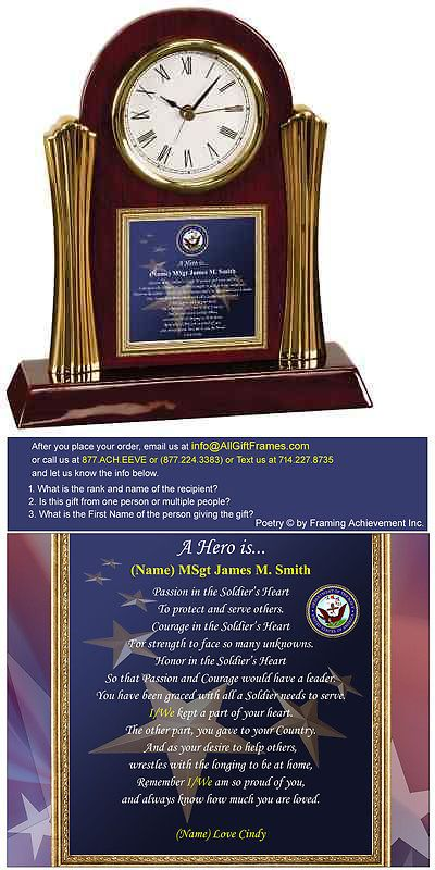 Desk Mantel and Shelf Clocks 175753: Navy Military Gift Personalized Retirement Clock Honorable Discharge Homecoming -> BUY IT NOW ONLY: $99.99 on eBay!