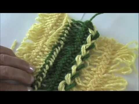Horquilla: técnica básica para la unión de las tiras   basic technique for the Union
