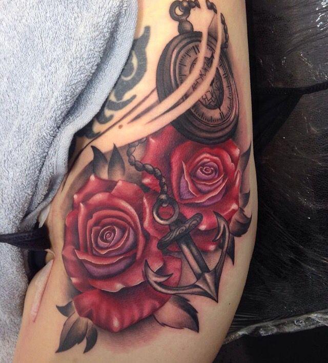 Rose rib tattoo