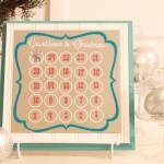 Christmas Countdown Magnet Calendar, easy to make!