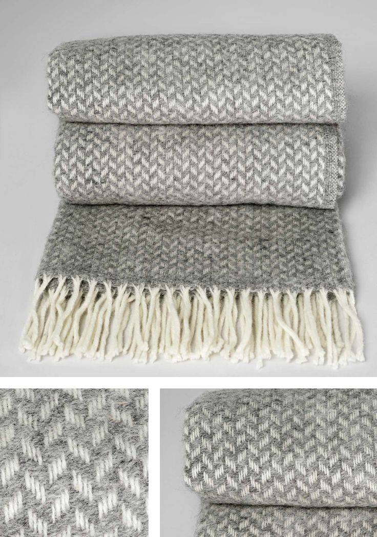 beautiful cozy gray throws!