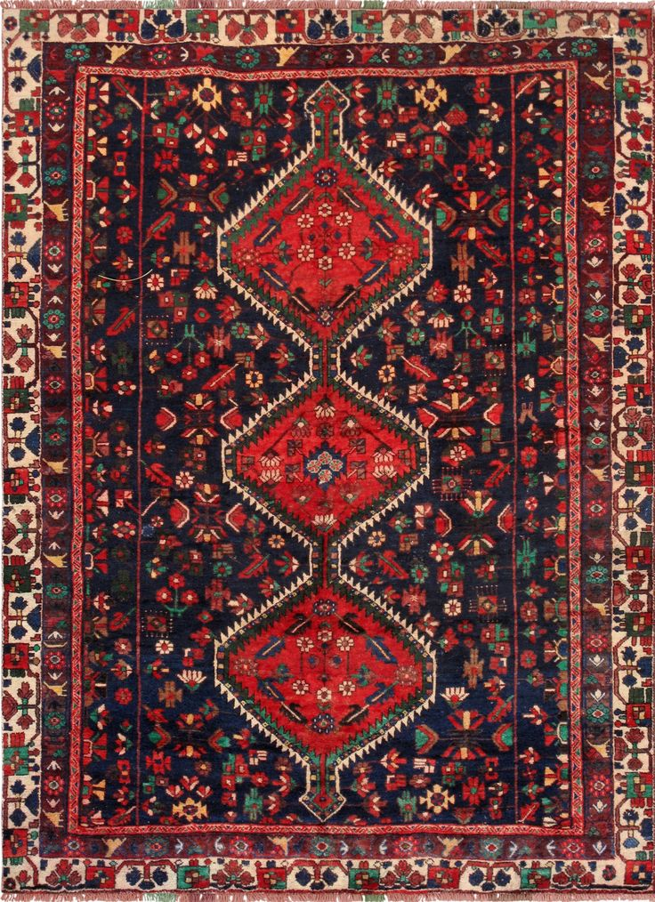Vintage Persian Handmade Wool Area Rugs