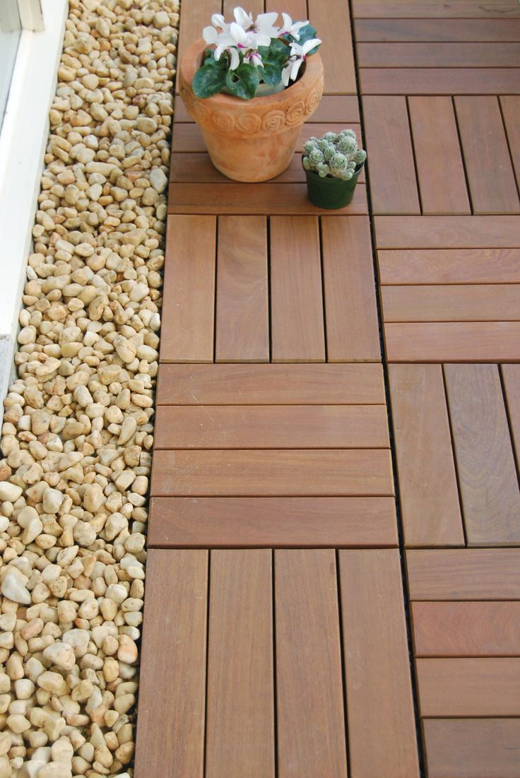 Inspirational Balcony Wood Tiles