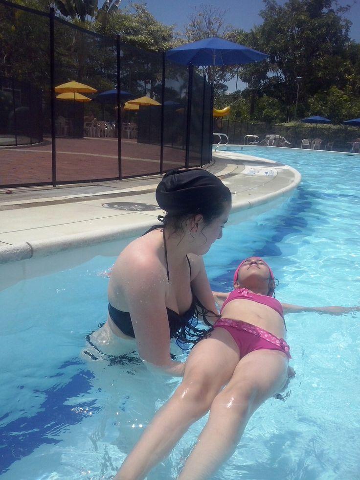 aprendiendo a flotar...