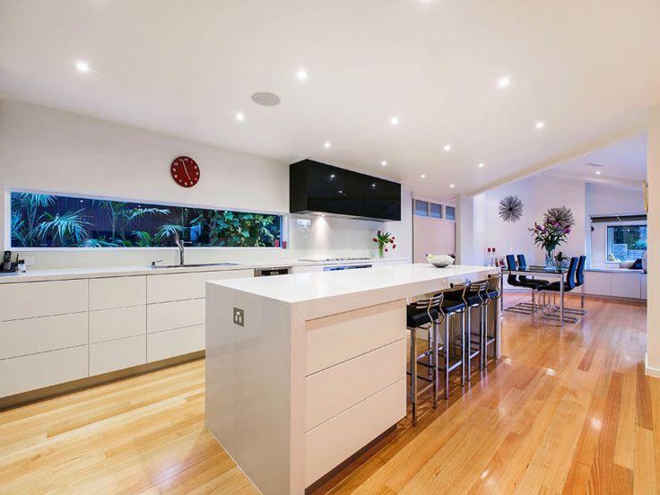 Strickland Drive | Kitchen | White | Minimalist | Floorboards