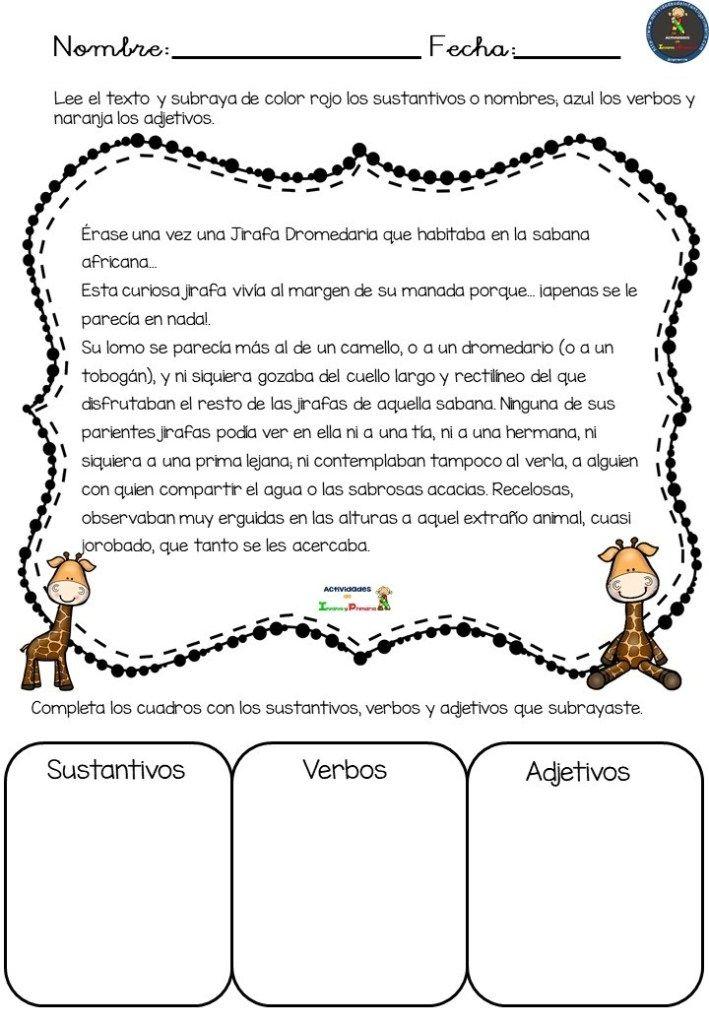 Actividades Buscamos Sustantivos Verbos Adjetivos Verbos Y Adjetivos Sustantivos Adjetivos Y Verbos Sustantivos Y Adjetivos