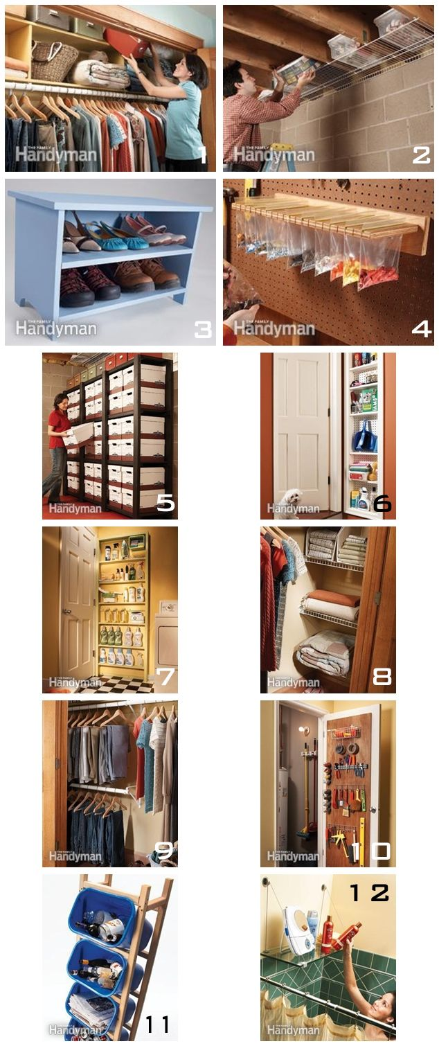 12 Simple Storage Solutions For The Home Pinterest